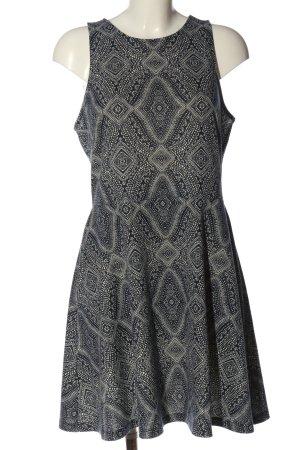 H&M Minikleid schwarz-weiß grafisches Muster Casual-Look