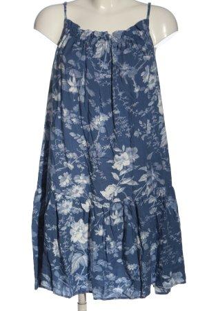 H&M Trägerkleid blau-weiß Allover-Druck Casual-Look