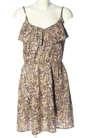 H&M Trägerkleid braun-weiß abstraktes Muster Casual-Look