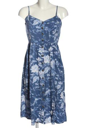 H&M Trägerkleid blau-weiß Blumenmuster Casual-Look