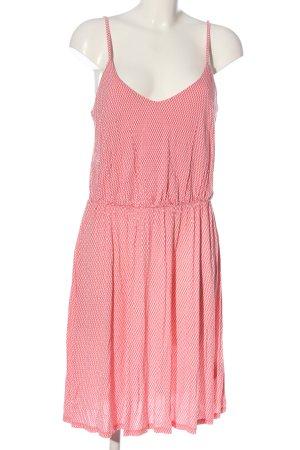 H&M Trägerkleid pink-weiß Allover-Druck Casual-Look