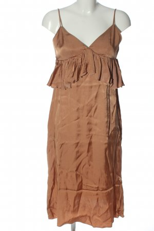H&M Trägerkleid braun Elegant