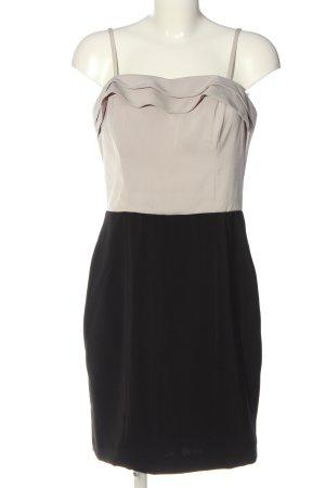 H&M Sukienka na ramiączkach czarny-jasnoszary Elegancki