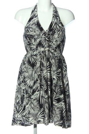 H&M Trägerkleid schwarz-weiß Allover-Druck Casual-Look