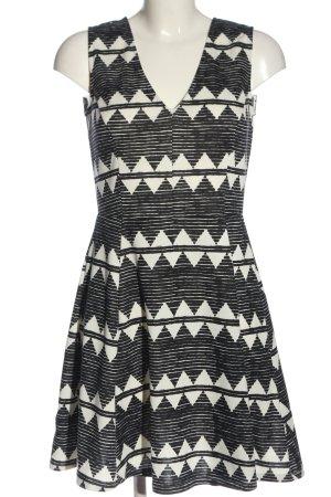H&M Trägerkleid schwarz-weiß grafisches Muster Casual-Look