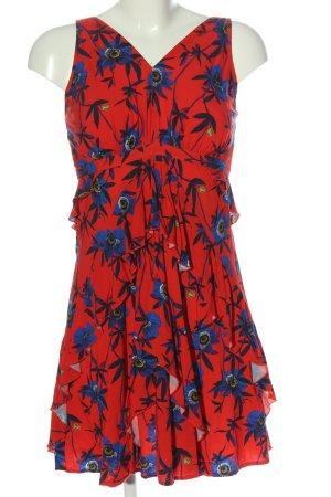 H&M Trägerkleid rot-blau Allover-Druck Casual-Look