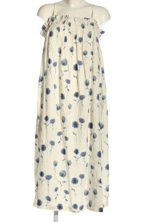 H&M Trägerkleid wollweiß Blumenmuster Casual-Look