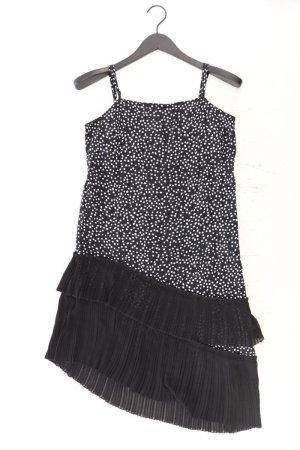 H&M Trägerkleid Größe 36 gepunktet schwarz aus Polyester