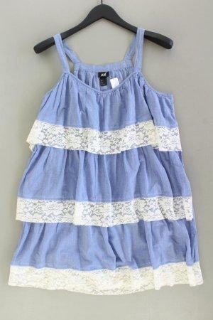 H&M Trägerkleid Größe 38 blau aus Baumwolle
