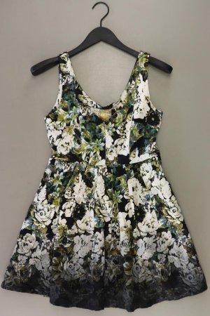 H&M Trägerkleid Größe 38 mit Blumenmuster Ärmellos grün aus Polyester