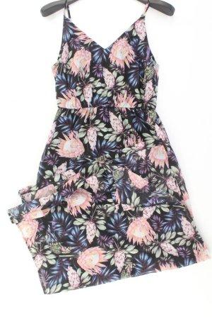 H&M Trägerkleid Größe 38 mit Blumenmuster mehrfarbig aus Polyester