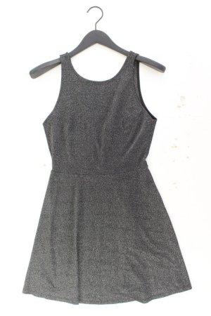 H&M Trägerkleid Größe 38 mit Glitzer silber aus Viskose
