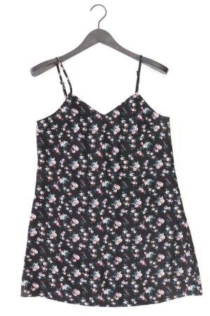 H&M Trägerkleid Größe 40 mit Blumenmuster schwarz aus Polyester