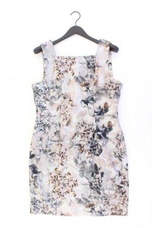 H&M Trägerkleid Größe XL mit Blumenmuster grau aus Polyester