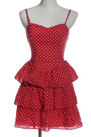 H&M Trägerkleid rot-weiß Punktemuster Casual-Look