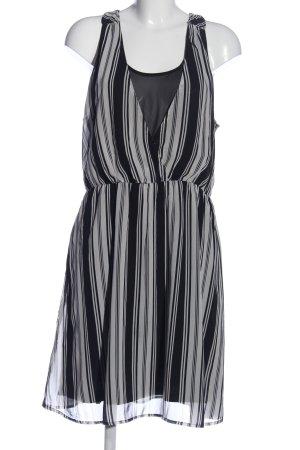 H&M Trägerkleid schwarz-hellgrau Streifenmuster Casual-Look