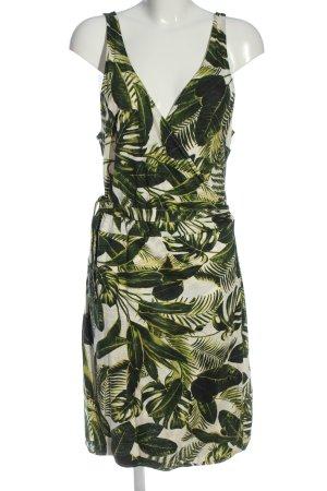 H&M Trägerkleid weiß-grün Allover-Druck Casual-Look