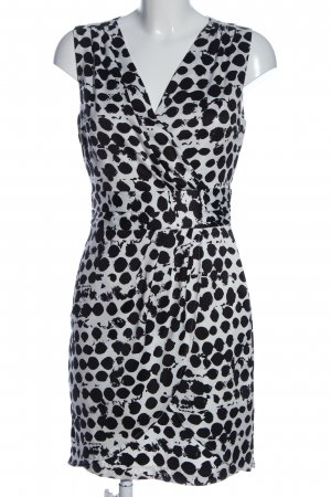H&M Trägerkleid weiß-schwarz abstraktes Muster Casual-Look