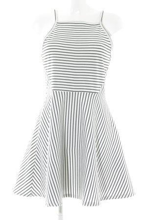 H&M Trägerkleid weiß-schwarz Streifenmuster schlichter Stil