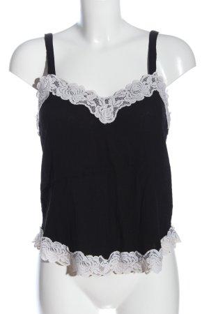 H&M Top met spaghettibandjes zwart-wit casual uitstraling