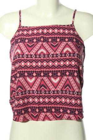 H&M Trägertop pink abstraktes Muster Casual-Look