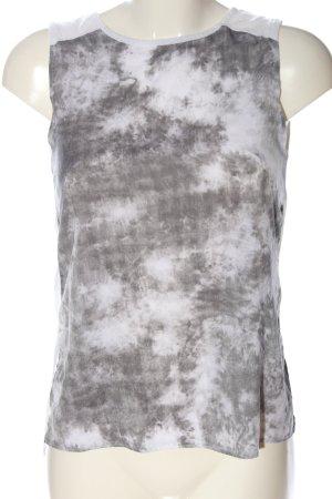 H&M Trägertop weiß-grün abstraktes Muster Casual-Look