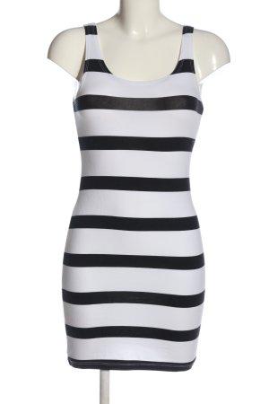 H&M Trägertop weiß-schwarz Streifenmuster Casual-Look