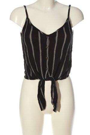 H&M Débardeur à bretelles brun-blanc motif rayé style décontracté