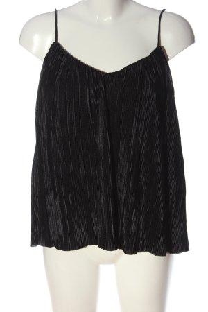 H&M Trägertop schwarz-silberfarben meliert Elegant