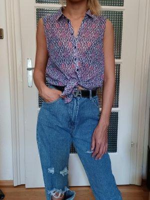 H&M Transparente Damenbluse [Bunt, Muster, Gr. S]
