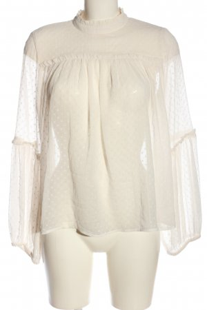 H&M Transparent Blouse natural white casual look