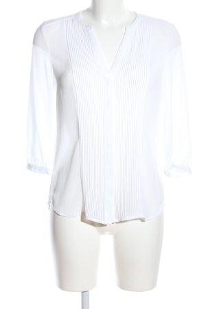 H&M Transparenz-Bluse weiß Business-Look