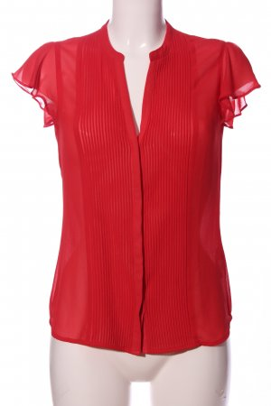 H&M Transparenz-Bluse rot Casual-Look