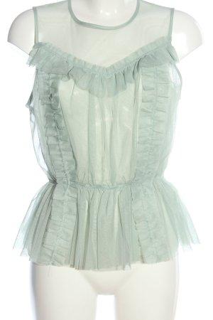H&M Transparenz-Bluse grün Elegant