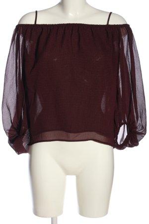 H&M Transparentna bluzka brązowy W stylu casual