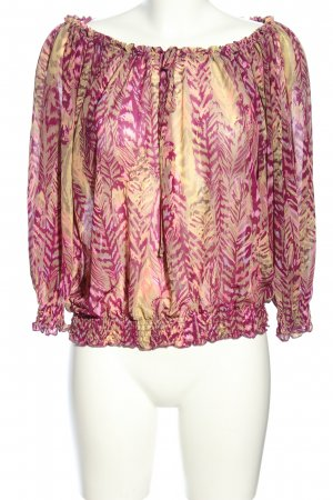 H&M Transparenz-Bluse pink-creme Allover-Druck Casual-Look