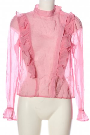 H&M Transparenz-Bluse pink Casual-Look