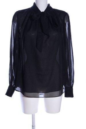 H&M Transparenz-Bluse schwarz Allover-Druck Business-Look