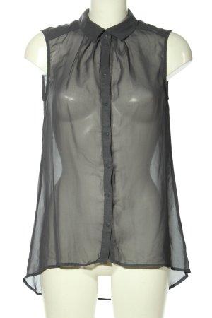 H&M Transparenz-Bluse hellgrau Party-Look