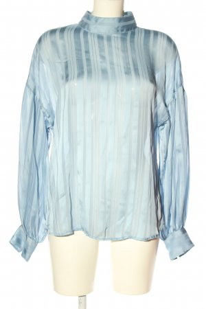 H&M Transparenz-Bluse blau Streifenmuster Business-Look