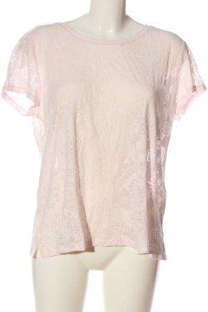 H&M Transparenz-Bluse creme-pink Casual-Look