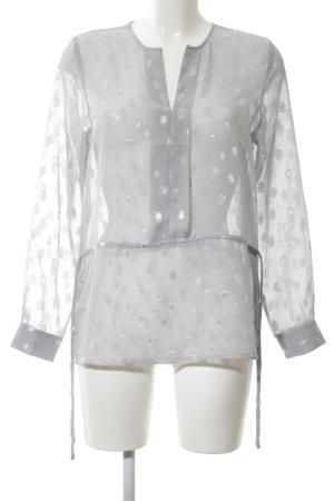 H&M Transparenz-Bluse hellgrau Allover-Druck Casual-Look