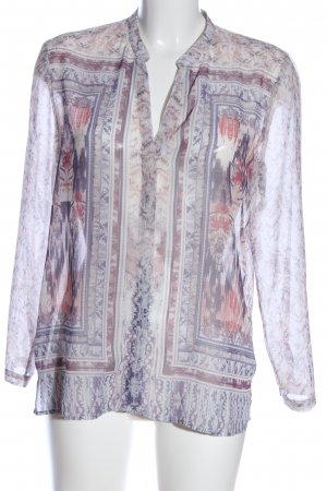 H&M Transparenz-Bluse abstraktes Muster Casual-Look