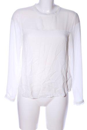H&M Transparenz-Bluse weiß-wollweiß Casual-Look