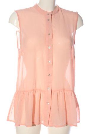 H&M Transparentna bluzka różowy W stylu biznesowym