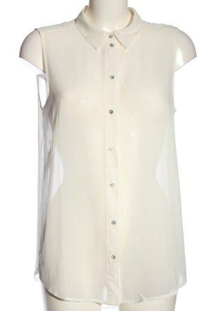 H&M Transparentna bluzka biały W stylu casual