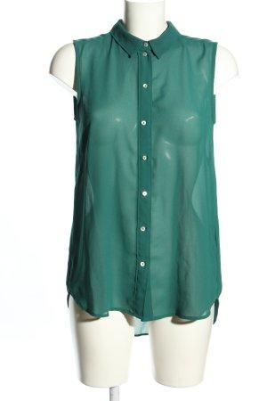 H&M Transparenz-Bluse grün Casual-Look