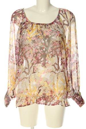 H&M Blusa transparente estampado con diseño abstracto look casual