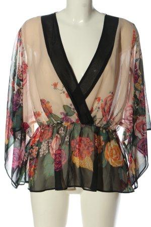 H&M Transparenz-Bluse Blumenmuster Casual-Look