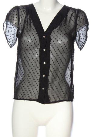 H&M Blouse transparente noir motif de tache style décontracté